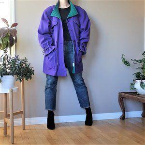 80s 90s Tradition Sears wool blend purple jacket.